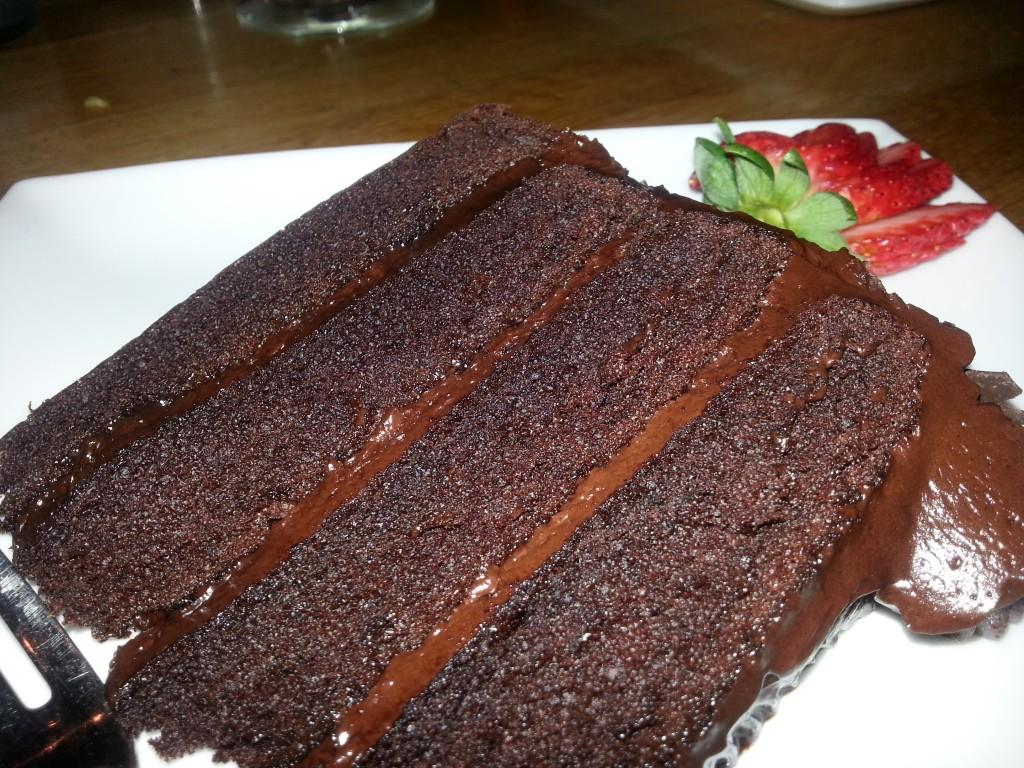 Severine's birthday meant chocolate cake for everyone